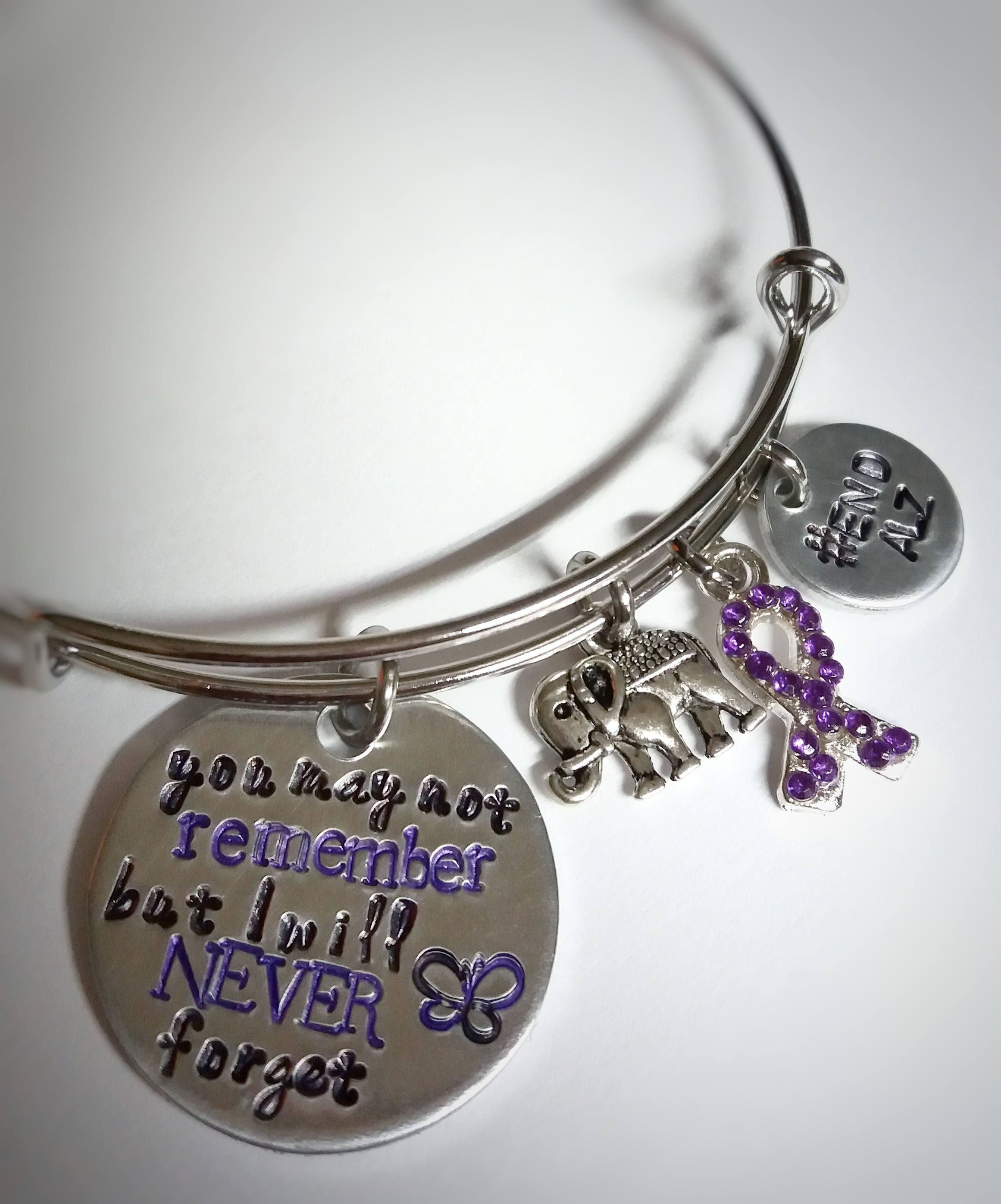 Alzheimer Awareness Memorial Jewelry You May Not Remember But I Will Never Forget Dementia Family Endalz By