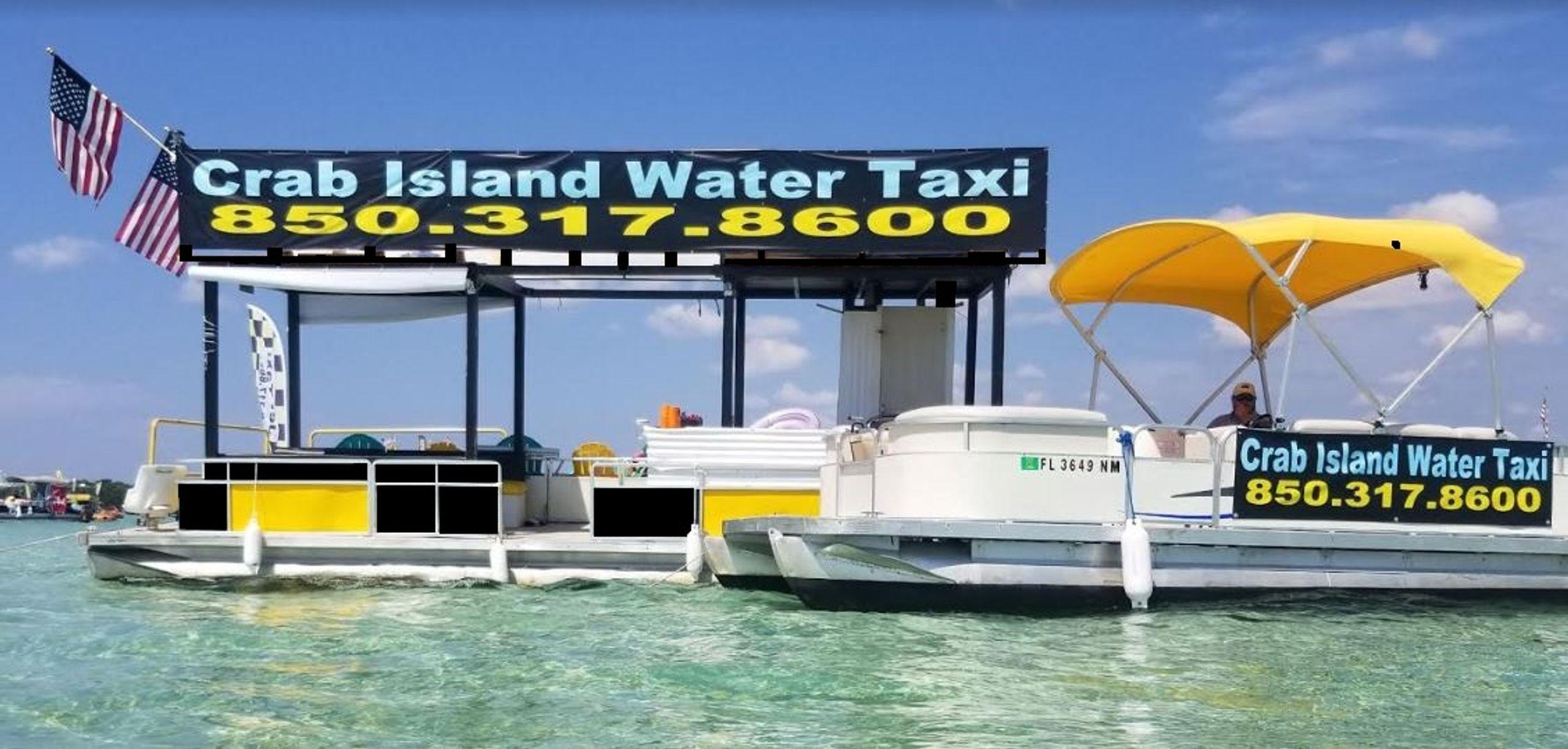 Pontoon Rentals Water Taxi Shuttle Crab Island Water