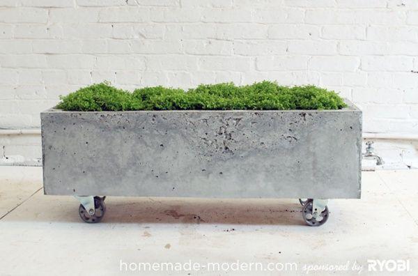 Concrete Planter On Wheels Diy Concrete Planters Concrete Planters Concrete Diy