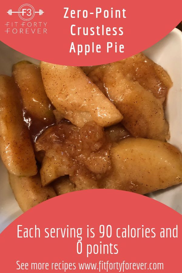 Zero-Point Crustless Apple Pie - Fit Forty Forever
