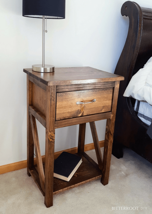 Simple One Drawer Diy Nightstand Bedside Table Diy Diy Nightstand Diy Furniture Plans
