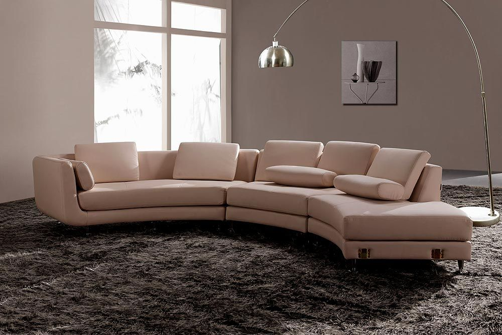 Round Leather Sofa Cuddler Couch Large Sectional Sofas