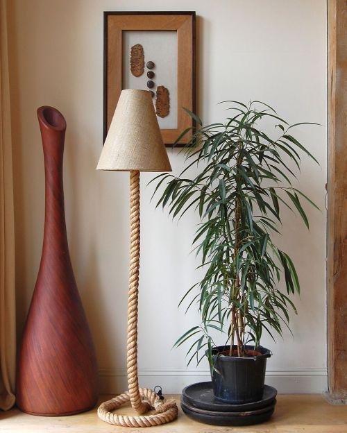 floor diy rope lilypad lamp redo the cottage