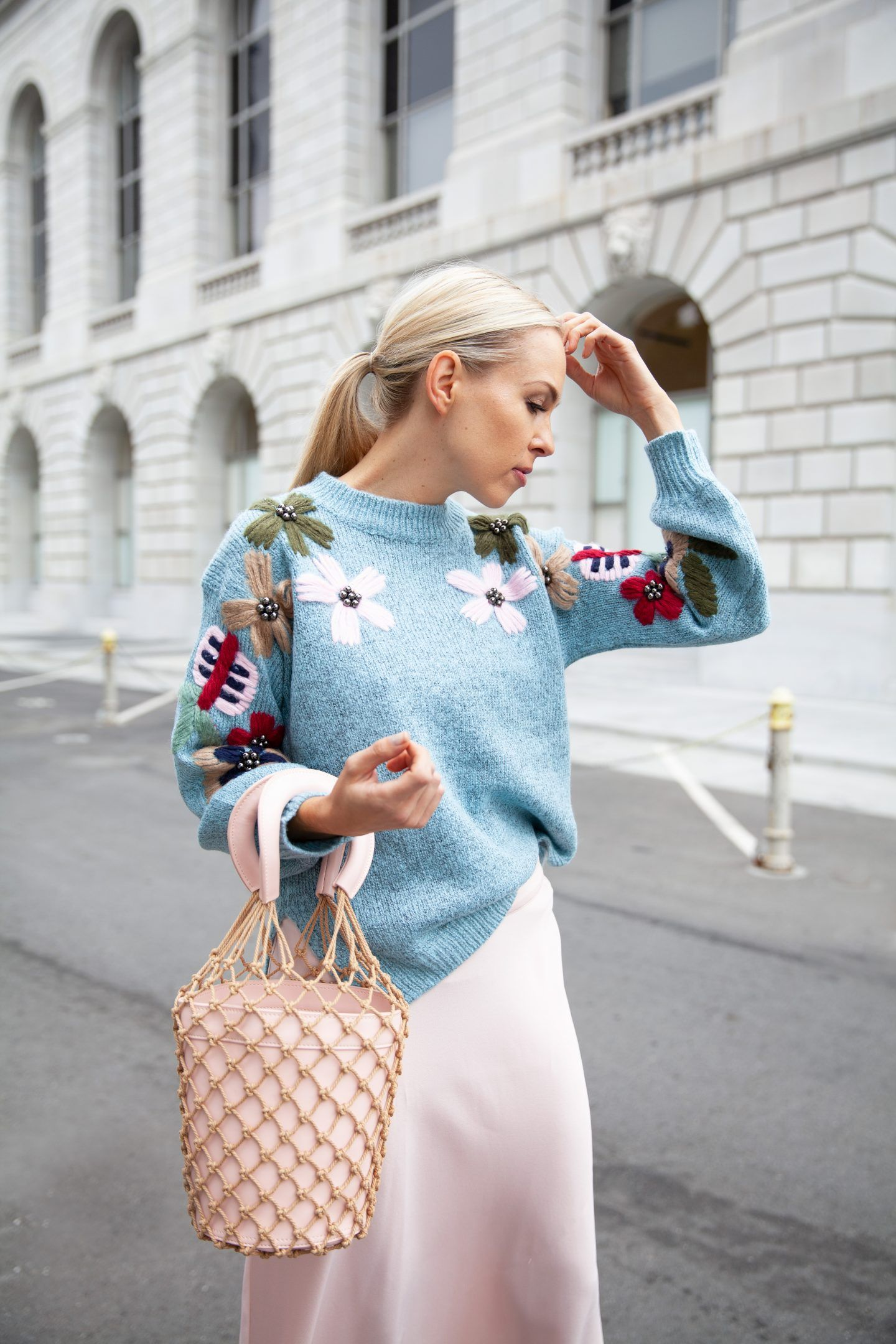 Allison Statement Sweater featured by top San Francisco fashion blog 35d6c4569