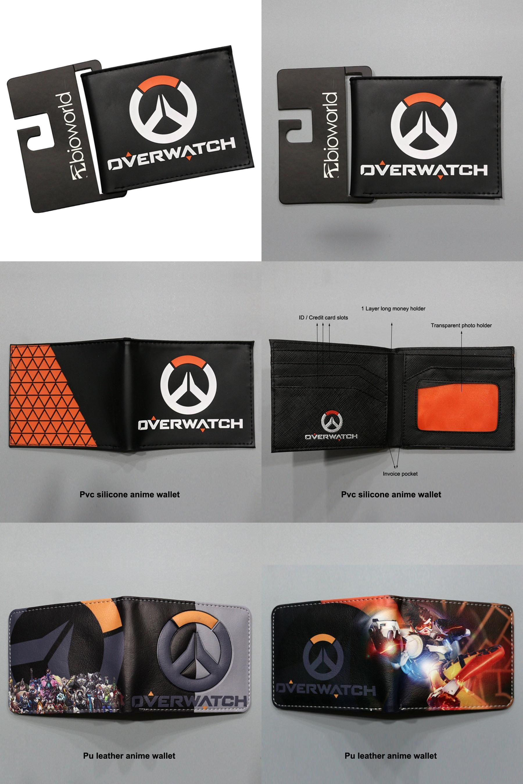 [Visit to Buy] Shot Game Overwatch Anime Wallets Men