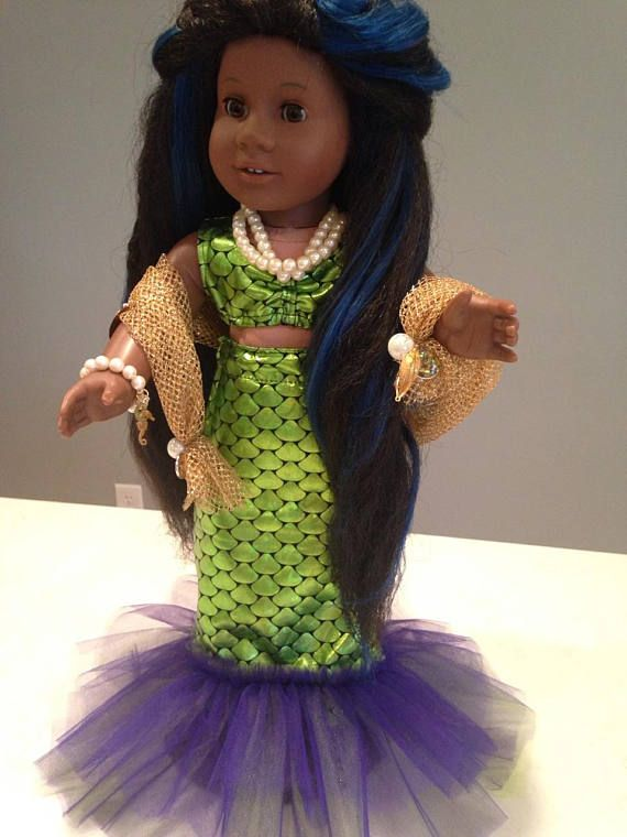 MERMAID HALLOWEEN COSTUME-Ooak 3 pieces Top Tail Wrap  sc 1 st  Pinterest & MERMAID HALLOWEEN COSTUME-Ooak 3 pieces Top Tail Wrap | doll ...