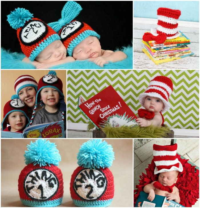 Dr Seuss Crochet Patterns The Cutest Collection Of Ideas | Gorros ...