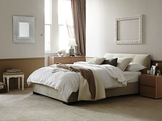Kenton Queen Bed Frame Oatmeal Bed On Order Colour Looks More Of A Light Grey Must Scotch