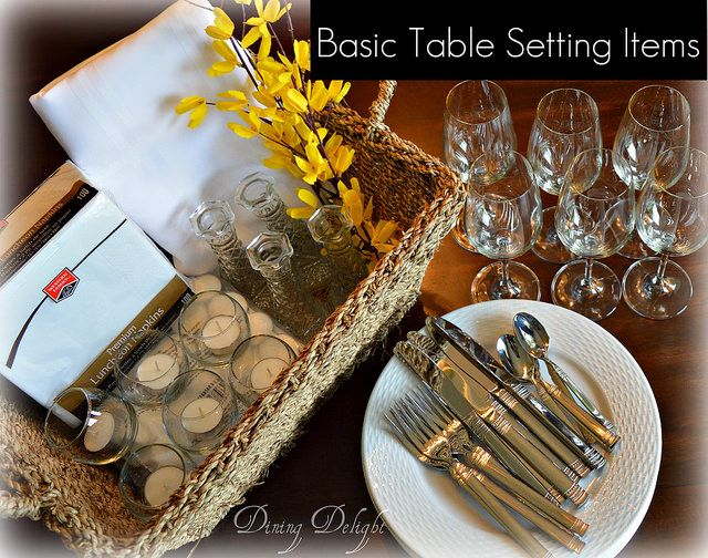 Dining Delight: Setting a Simple Thrifty yet Pretty Table