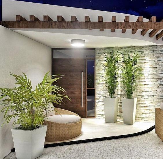 Decoraci n de interior exterior terraza y jand n - Jardines exteriores de casas modernas ...