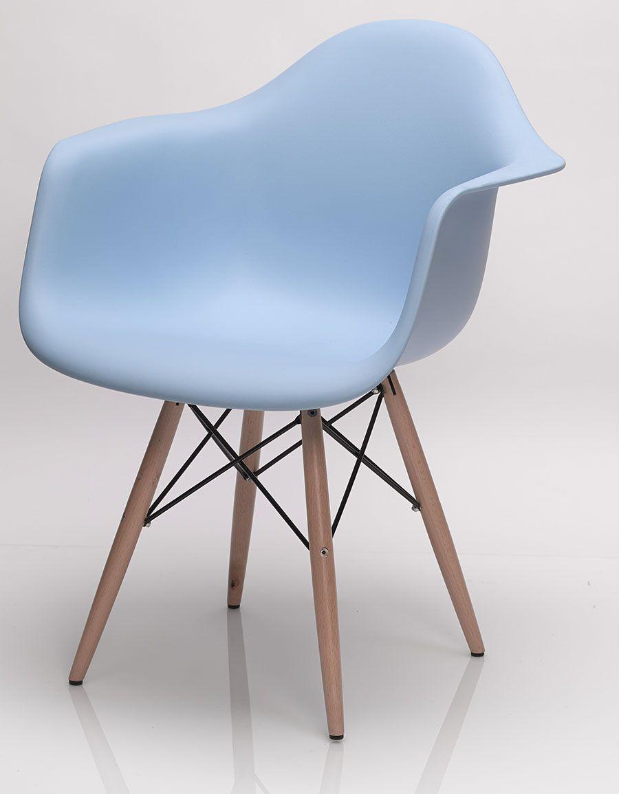 Chaise De Salle à Manger Design Hector Coloris Bleu Noir Ou Blanc