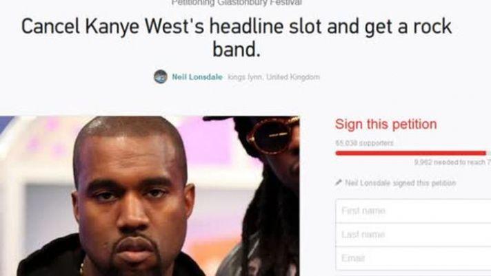 Kanye West wird offenbar nicht von allen geliebt. Die Glastonbury-Festival-Besucher haben eine Petition gestartet, um ihn aus dem Festival-Programm zu nehmen.