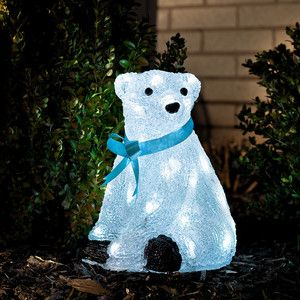 sitting polar bear led light s 2350 now featured on fab