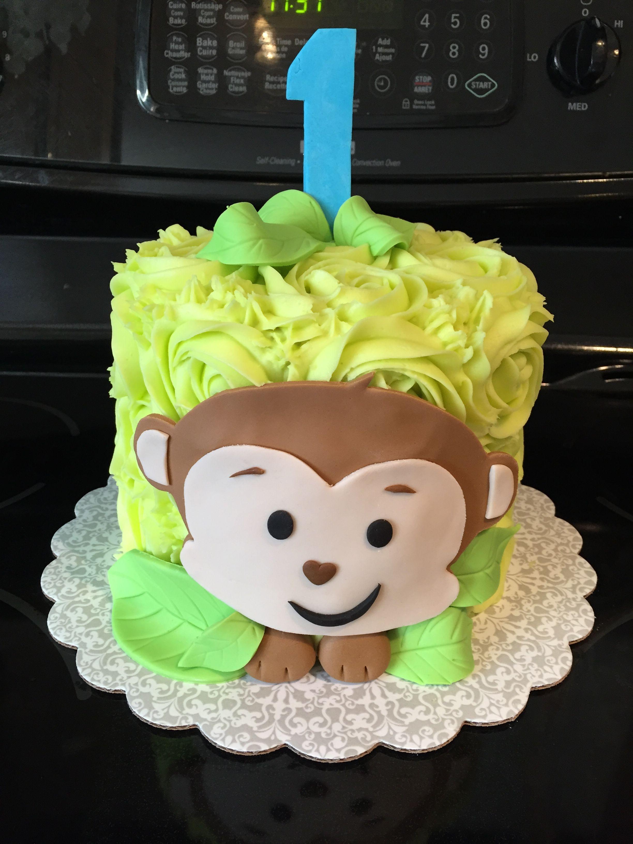 Amazing Monkey Smash Cake With Images Monkey Birthday Cakes Monkey Personalised Birthday Cards Veneteletsinfo