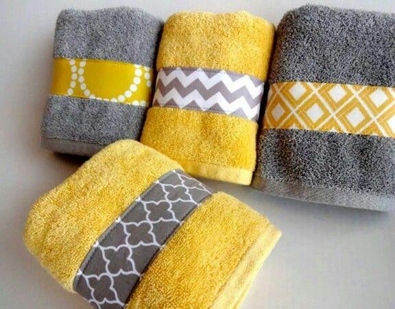 Badezimmer handtücher ~ Handtücher verschönern sewing for deko handtücher