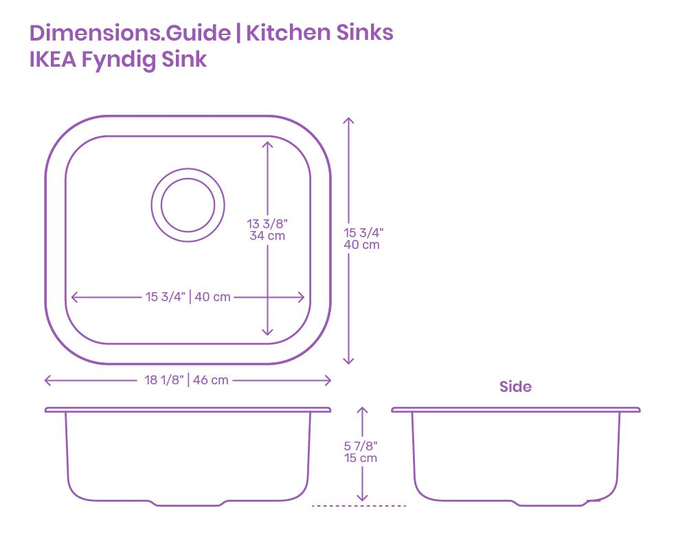 The Ikea Fyndig Kitchen Sink Is A Rectangular Shaped Sink With Smooth Edges And A Sound Absorbing Material Under Th In 2020 Kitchen Sink Sink Sound Absorbing