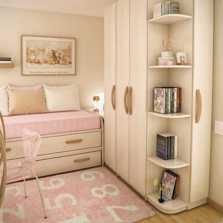 Habitaciones juveniles muebles para espacios peque os - Decoracion habitaciones juveniles nina ...