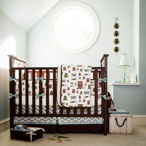 Owl Crib Bedding, Custom Baby