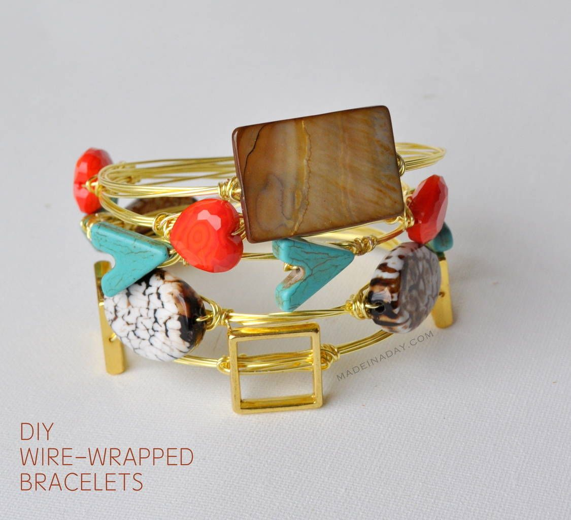 Learn to make these gorgeous and trendy Wire Wrapped Stone Bracelets on…