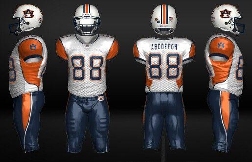 94ed05d9ee0 Auburn concept uniform | auburn tigers | Auburn football, Football ...