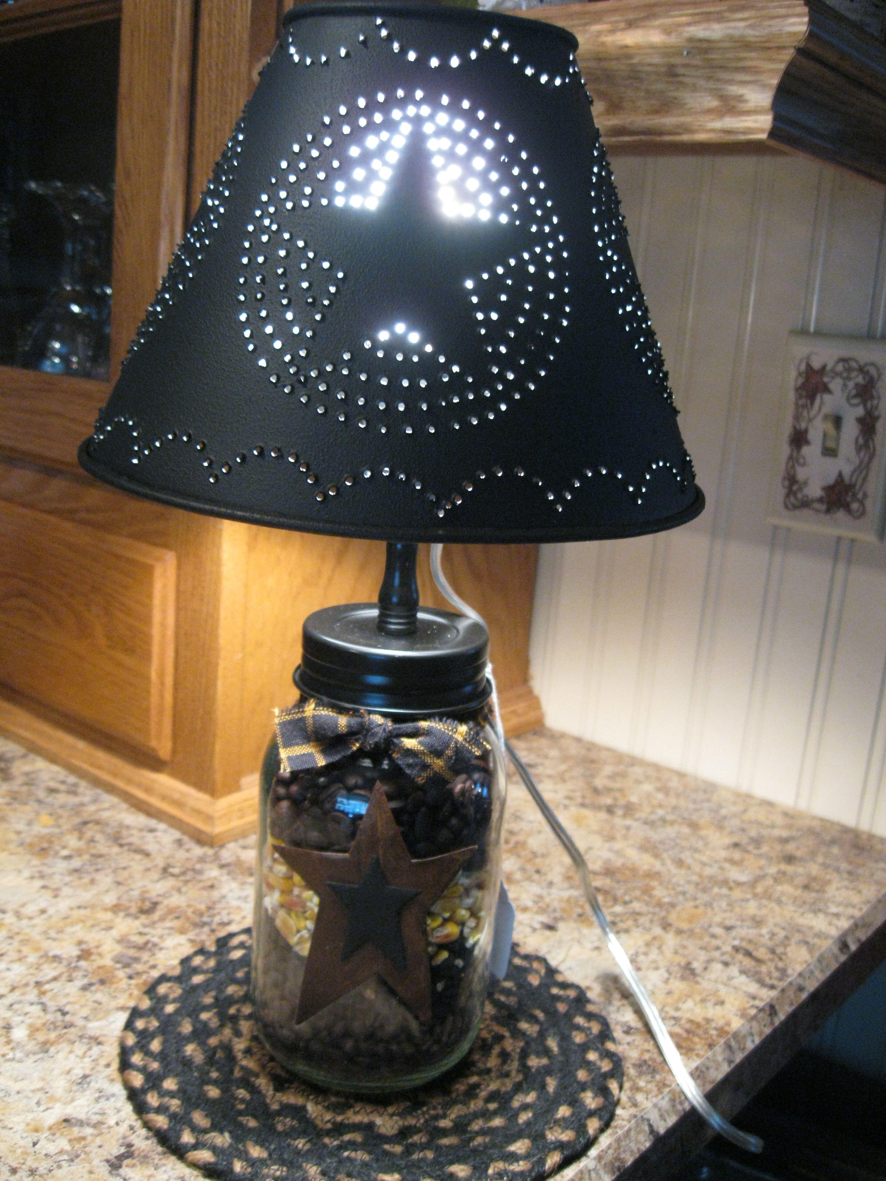 Mason Jar Light Lampes Country Lamp Lumiere