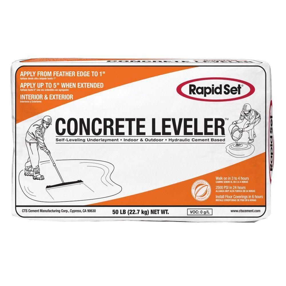 Rapid Set 50 Lb Cts Concrete Leveler Home Depot Concrete Mixes