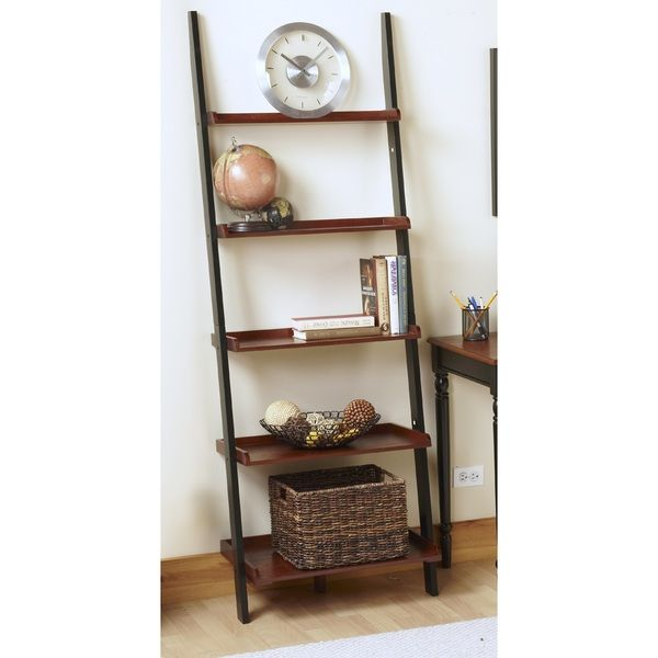 Walmart French Country Ladder Bookcase Black And Oak