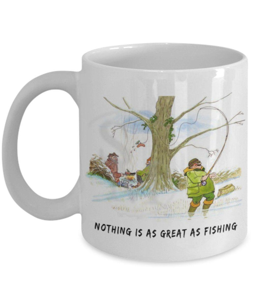 Coffee mug fishing funny unique exclusive unusual