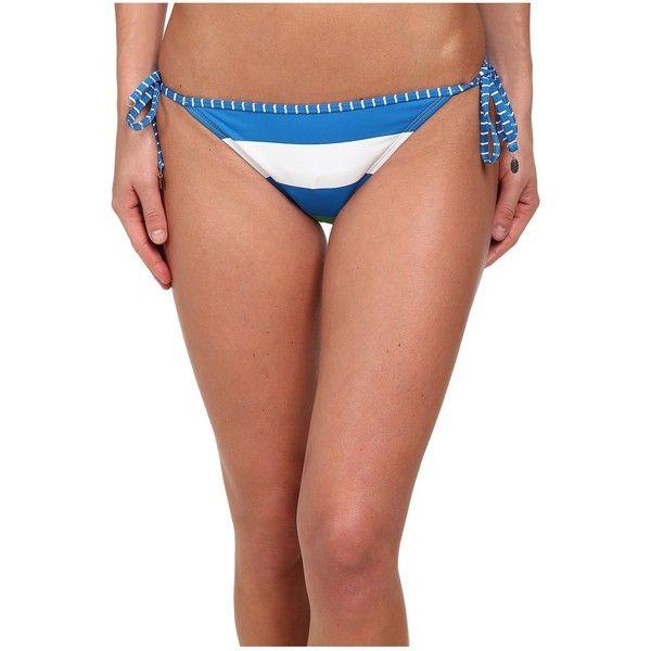 Tommy Bahama Womens Rugby Side String Bikini Bottoms Sailor Blue - Swimwear