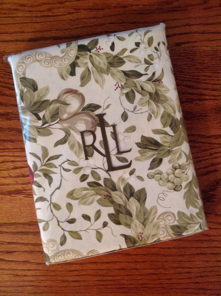 Nwt Ralph Lauren Home Brookfield Floral Tablecloth Oblong 60 X 84