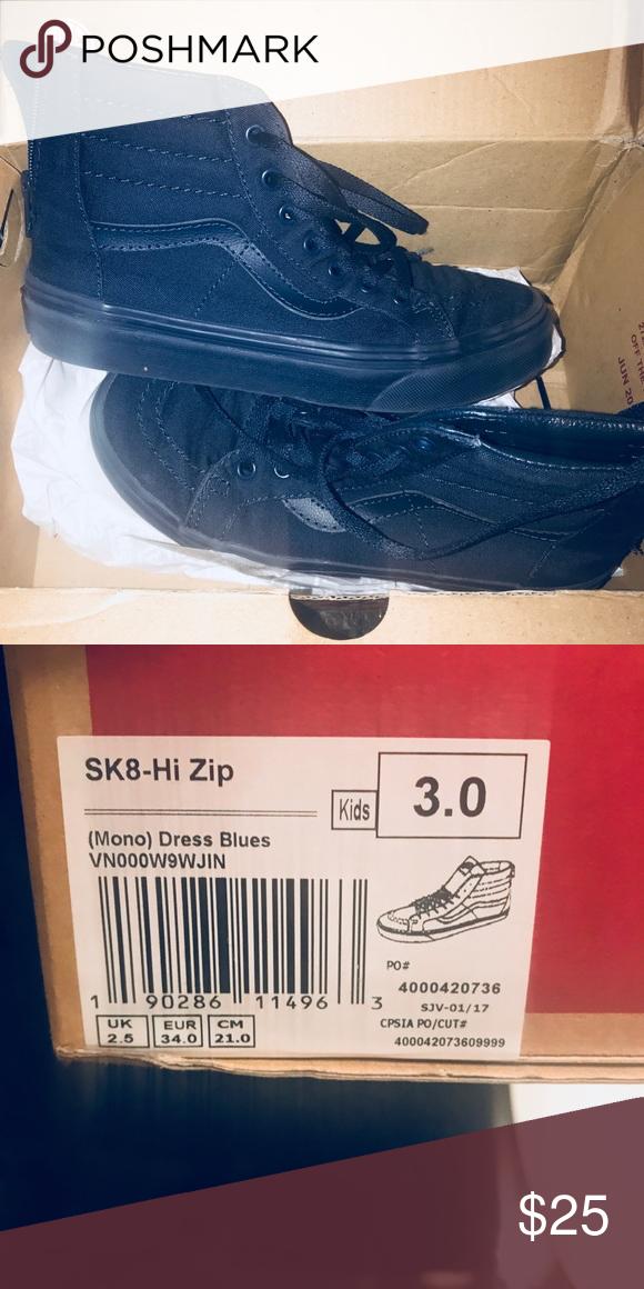 size 3 vans shoes