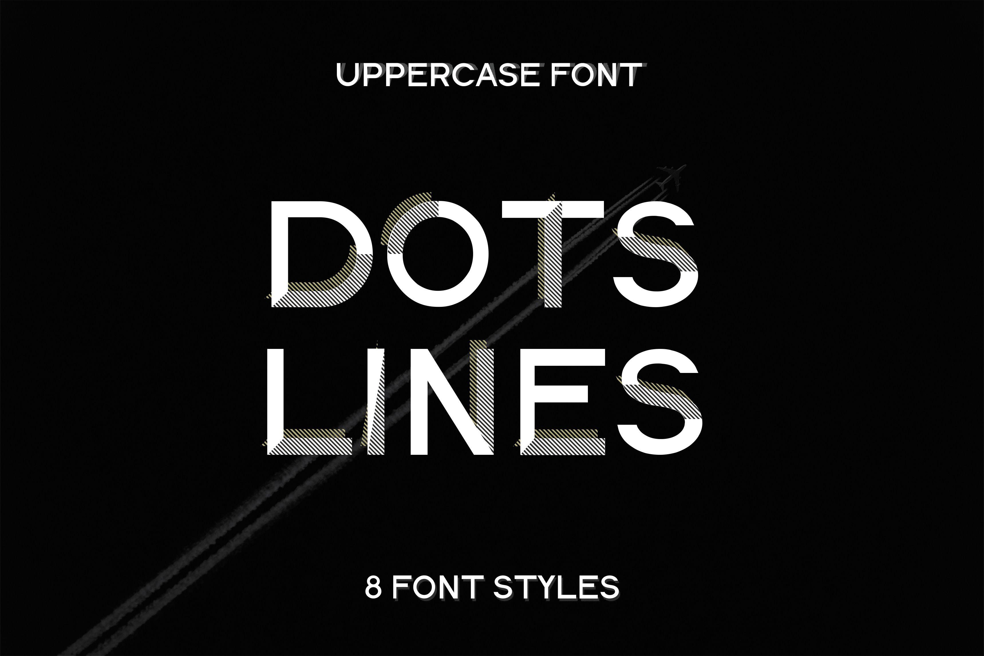 Font design«Dots Lines font. Modern, minimalist, uppercase
