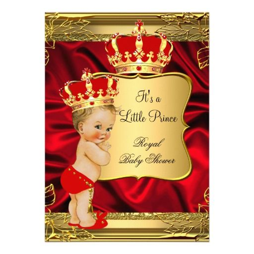 Red Gold Blonde Baby Boy Prince Baby Shower