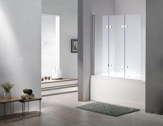 Details zu Glas Duschabtrennung SEATTLE Badewanne Faltwand Duschwand - badezimmer badewanne dusche