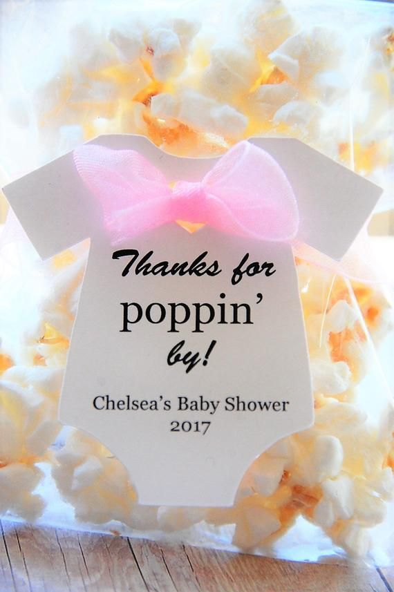 10 tags ~ Thanks For Poppin' By Gift Tags ~ Baby Onesie Gift Tags ~ Baby Shower Tags ~ 2 1/2″ ~ Multiple Colors to Choose From