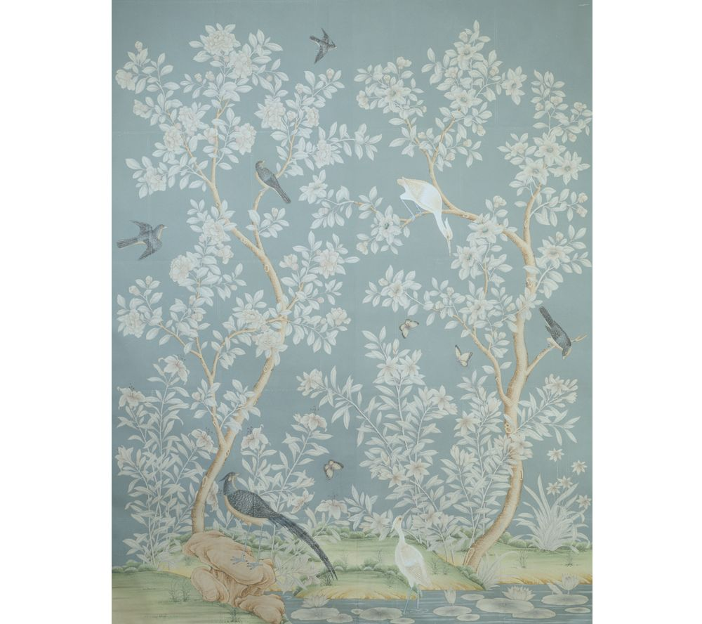 hand painted chinese wallpaper, gracie studio | cozy | Pinterest ...