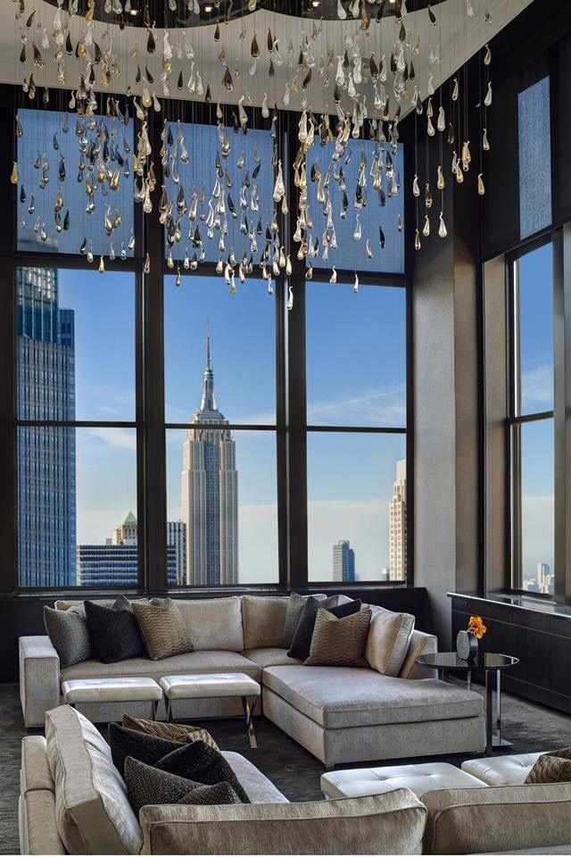 New York Penthouse, NYC | Living Room | Pinterest ...
