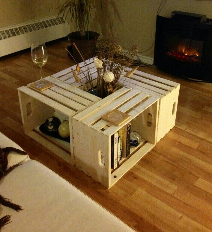 White Washed Crate Coffee Table Crate Coffee Table Crate Table Coffee Table