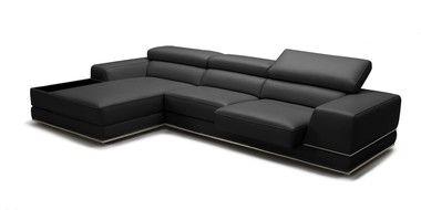 Remarkable Adjustable Headrests Slide Out Seats Black Leather Sectional Creativecarmelina Interior Chair Design Creativecarmelinacom