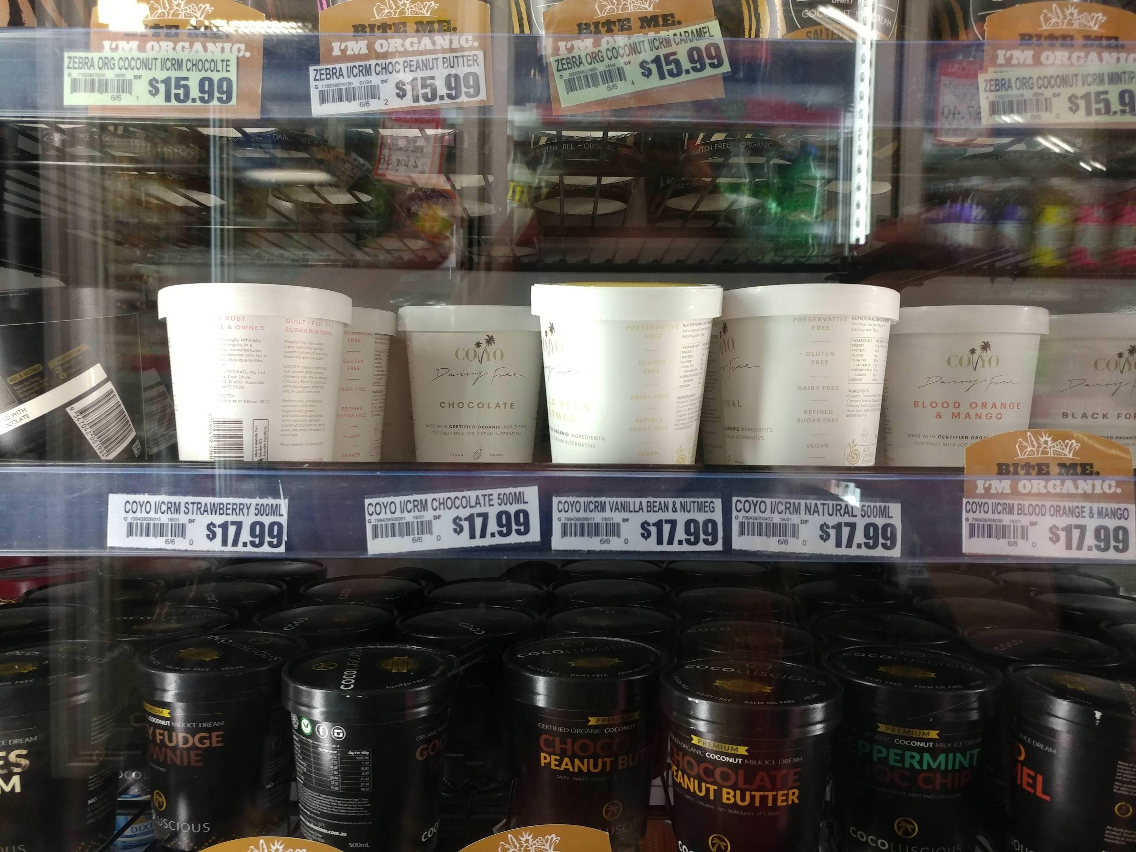 Coconut icecream in Australia is like