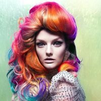 i wish i could color my hair like this yea !