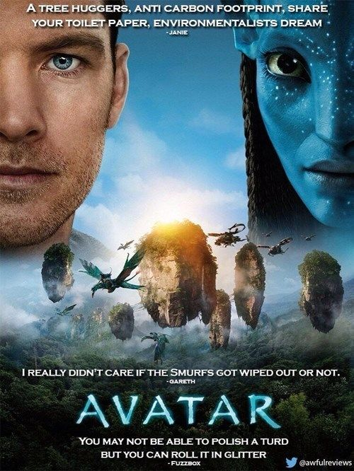 This Is What Movie Posters Would Look Like If Their 1 Star Amazon Reviews Were On Them Avatar Movie Avatar Poster Avatar Full Movie