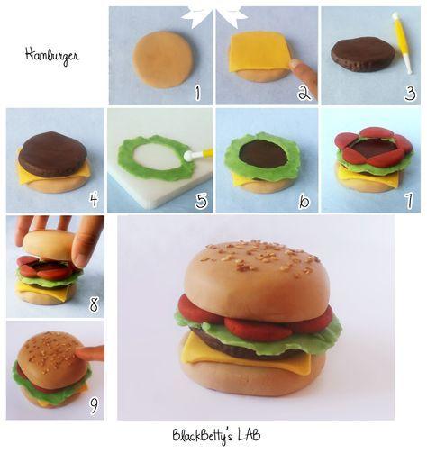 BlackBetty'sLab: Tutorial Hamburger in pasta di zucchero !