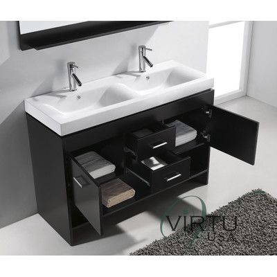 48 Double Sink Vanity Virtu Gloria 48 Double Sink Bathroom