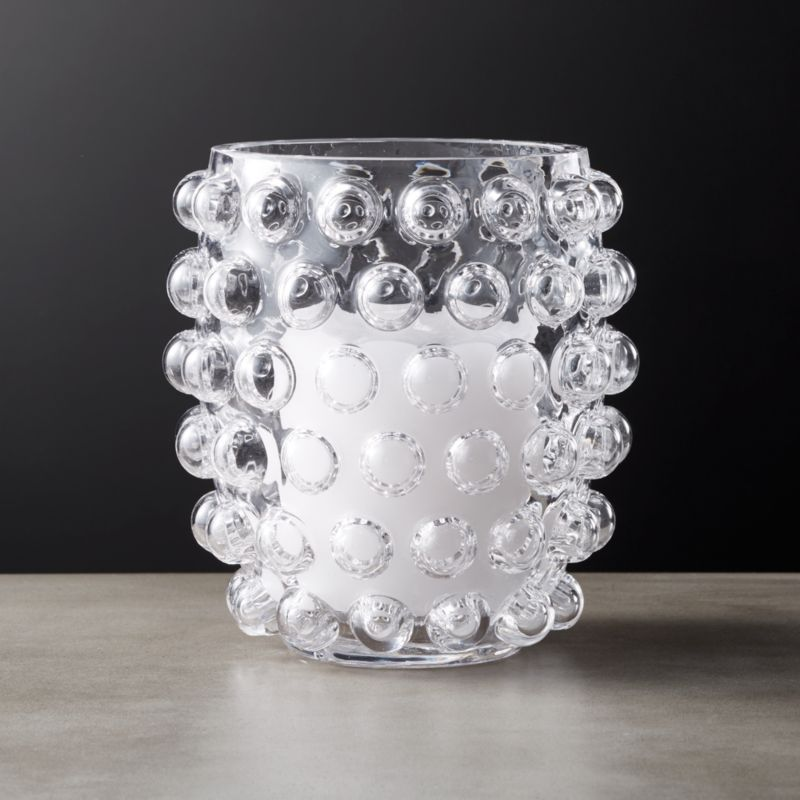 Shop Koi Tea Light Votive Candle Holder Vase Crystal Clear Glass Bubbles Up With Oversized Hobnail Det Candle Holders Vase Candle Holder Unique Candle Holders Glass tea light candle holder
