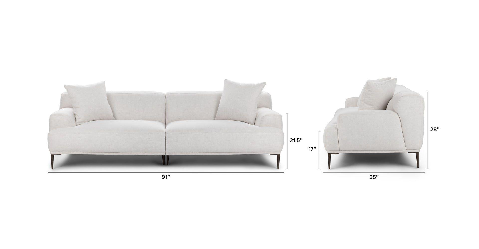 Abisko Quartz White Sofa With Images