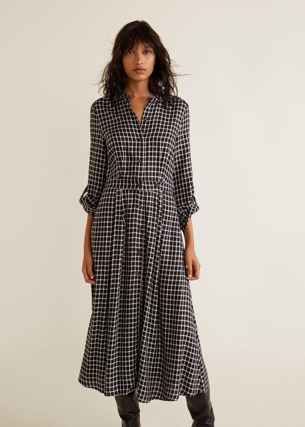 7b3ce2406bba Robe chemise à carreaux - Femme