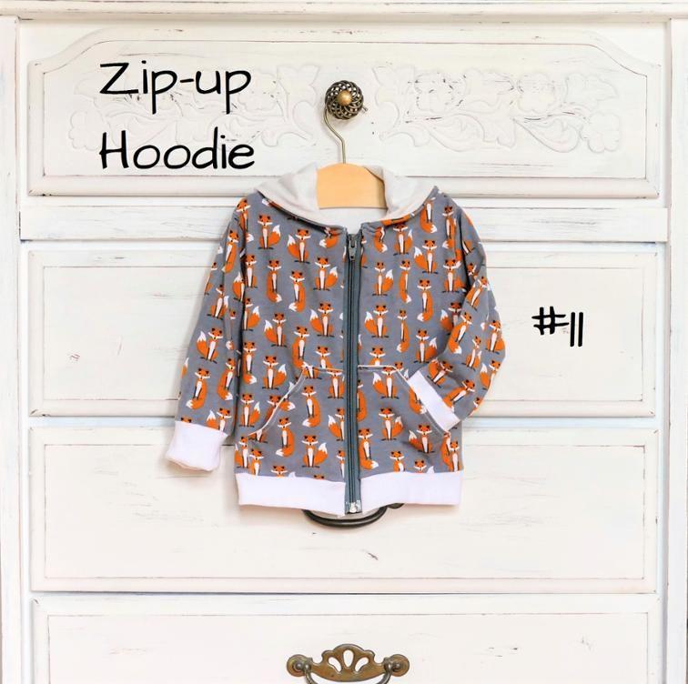 Baby/Toddler Zip-up Hooded Sweatshirt Pattern | Craftsy | Sewing ...