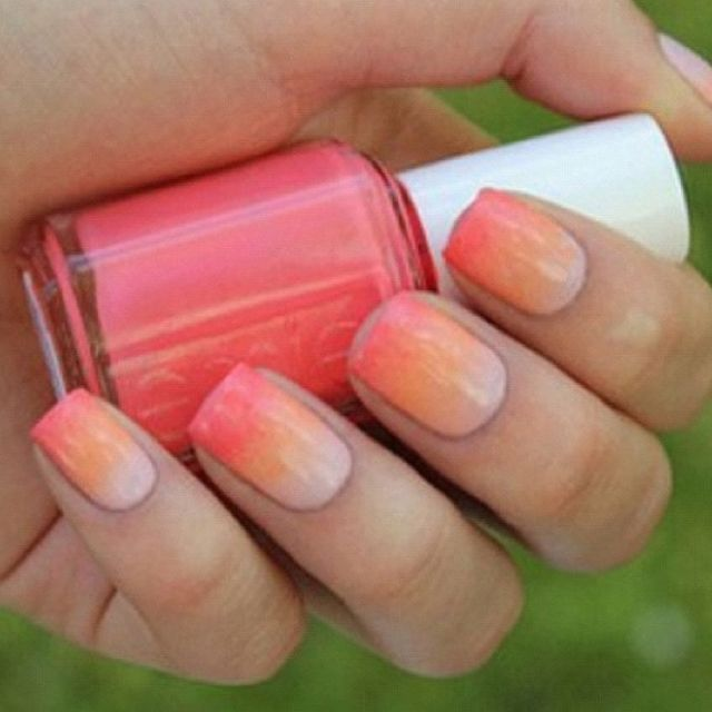 makeup sponge nail art. | Sponged Nails | Pinterest | Sponge nail ...