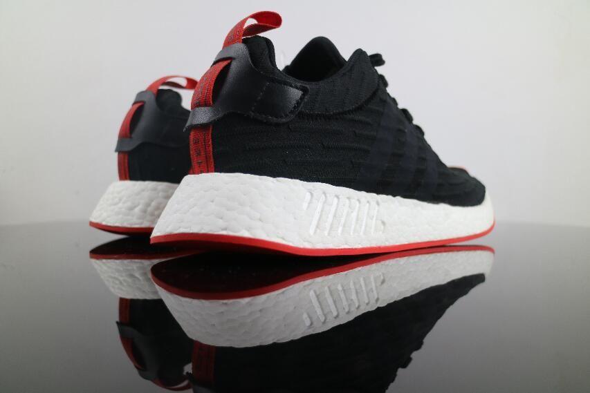 Best Price Authentic Adidas NMD R2 negro rojo ba7252 verdadero impulso free